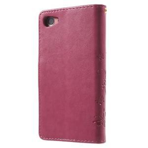 Butterfly peněženkové pouzdro na Sony Xperia Z5 Compact - rose - 2