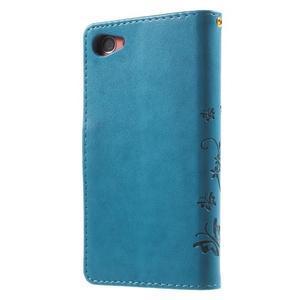 Butterfly peněženkové pouzdro na Sony Xperia Z5 Compact - modré - 2