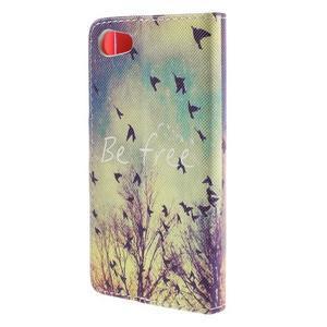 Diary Peňaženkové puzdro pre Sony Xperia Z5 Compact - vtáčiky - 2
