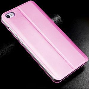 Vintage stylové PU kožené pouzdro na mobil Xiaomi Mi5 - růžové - 2
