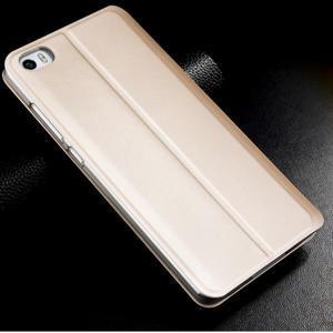 Vintage stylové PU kožené pouzdro na mobil Xiaomi Mi5 - zlaté - 2