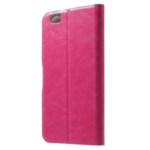 Horse peňaženkové puzdro pre mobil Xiaomi Mi5 - rose - 2