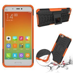 Odolný outdoor obal pre mobil Xiaomi Mi5 - oranžový - 2