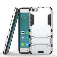 Hybridní odolný kryt pre mobil Xiaomi Mi5 - strieborný - 2/4