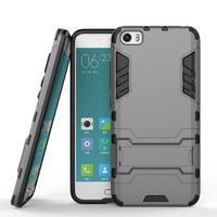 Hybridní odolný kryt na mobil Xiaomi Mi5 - šedý - 2/7