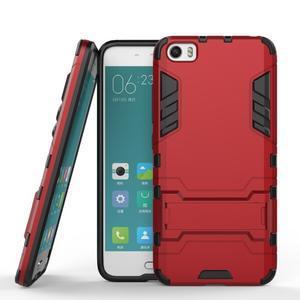 Hybridní odolný kryt pre mobil Xiaomi Mi5 - červený - 2