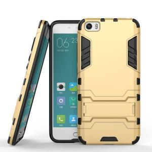 Hybridní odolný kryt pre mobil Xiaomi Mi5 - zlatý - 2