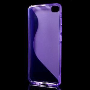 S-line gelový obal na mobil Xiaomi Mi5 - fialový - 2