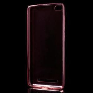 Ultratenký slim gelový obal na mobil Xiaomi Redmi 3 - červený - 2