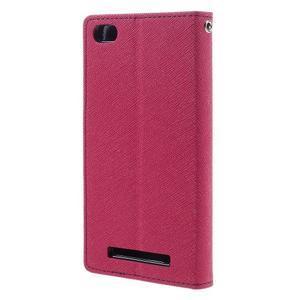 Diary PU kožené puzdro pre mobil Xiaomi Redmi 3 - rose - 2