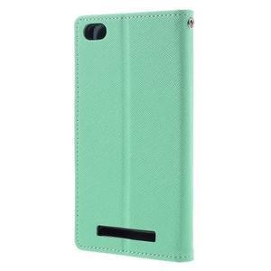 Diary PU kožené pouzdro na mobil Xiaomi Redmi 3 - azurové - 2