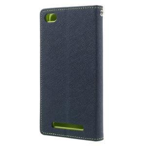 Diary PU kožené pouzdro na mobil Xiaomi Redmi 3 - tmavěmodré - 2
