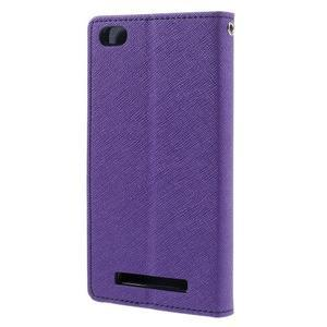 Diary PU kožené pouzdro na mobil Xiaomi Redmi 3 - fialové - 2