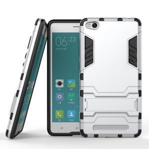 Hybridní gelový obal na Xiaomi Redmi 3 - stříbrný - 2