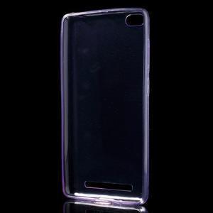 Ultratenký slim gelový obal na mobil Xiaomi Redmi 3 - fialový - 2