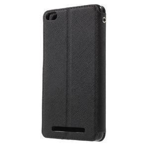 Diary view peňaženkové puzdro pre Xiaomi Redmi 3 - čierne - 2