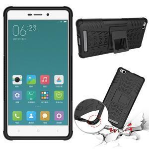 Outdoor odolný obal pre mobil Xiaomi Redmi 3 - čierný - 2