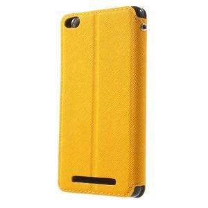 Diary view peněženkové pouzdro na Xiaomi Redmi 3 - žluté - 2