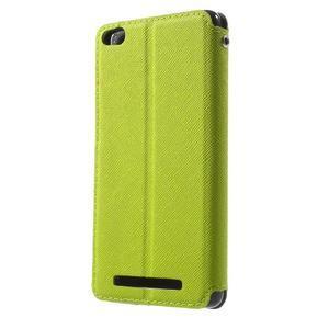 Diary view peněženkové pouzdro na Xiaomi Redmi 3 - zelené - 2