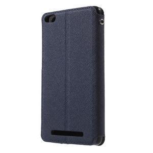 Diary view peňaženkové puzdro pre Xiaomi Redmi 3 - tmavomodré - 2