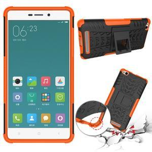 Outdoor odolný obal na mobil Xiaomi Redmi 3 - oranžový - 2