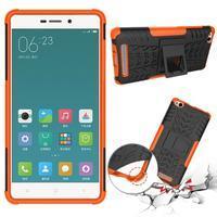 Outdoor odolný obal na mobil Xiaomi Redmi 3 - oranžový - 2/2