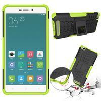 Outdoor odolný obal pre mobil Xiaomi Redmi 3 - zelený - 2/2