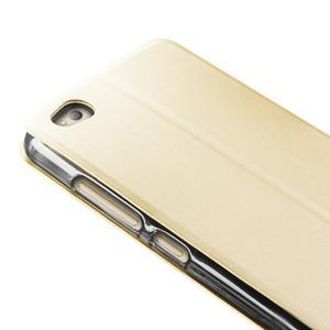 Vintage PU kožené pouzdro na Xiaomi Redmi 3 - zlaté - 2