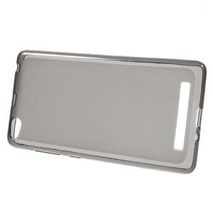 Matné gelové puzdro pre mobil Xiaomi Redmi 3 - sivé - 2