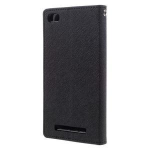 Diary PU kožené pouzdro na mobil Xiaomi Redmi 3 - černé - 2