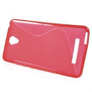 S-line gelový obal na mobil Xiaomi Redmi Note 2 - červený - 2