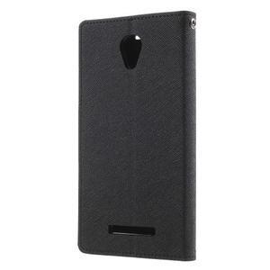 Goos PU kožené puzdro pre Xiaomi Redmi Note 2 - čierne - 2