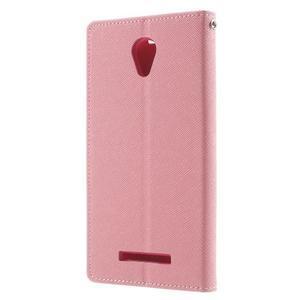 Goos PU kožené puzdro pre Xiaomi Redmi Note 2 - ružové - 2