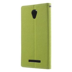 Goos PU kožené puzdro pre Xiaomi Redmi Note 2 - zelené - 2
