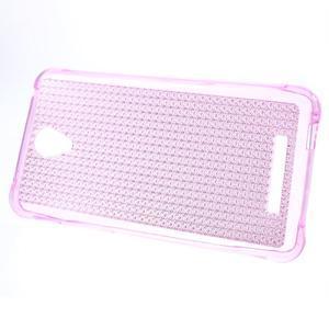 Diamonds gélový obal pre Xiaomi Redmi Note 2 - rose - 2