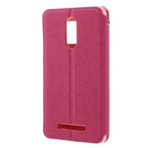 Diary pouzdro s okýnkem na mobil Xiaomi Redmi Note 3  - rose - 2
