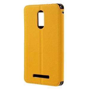 Diary pouzdro s okýnkem na mobil Xiaomi Redmi Note 3  - žluté - 2