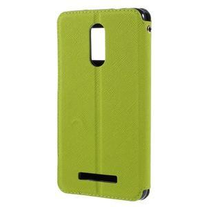 Diary pouzdro s okýnkem na mobil Xiaomi Redmi Note 3  - zelené - 2