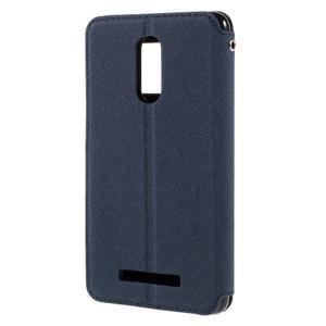 Diary pouzdro s okýnkem na mobil Xiaomi Redmi Note 3  - tmavěmodré - 2