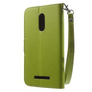 Leaf peněženkové pouzdro na Xiaomi Redmi Note 3 - zelené - 2