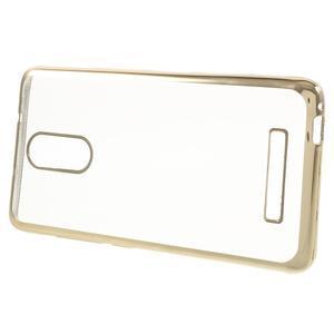Gelový obal se zlatým lemem na Xiaomi Redmi Note 3 - 2