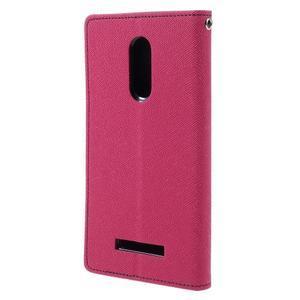 Wallet PU kožené pouzdra na Xiaomi Redmi Note 3 - rose - 2