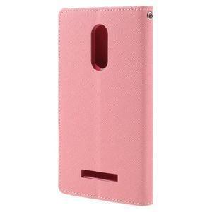 Wallet PU kožené pouzdra na Xiaomi Redmi Note 3 - růžové - 2