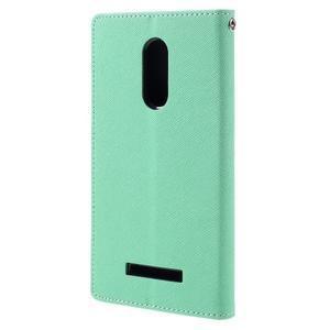 Wallet PU kožené puzdra na Xiaomi Redmi Note 3 - azurové - 2
