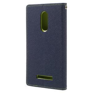 Wallet PU kožené puzdra na Xiaomi Redmi Note 3 - tmavomodré - 2