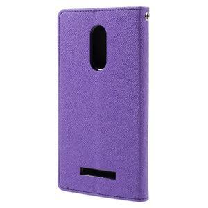 Wallet PU kožené pouzdra na Xiaomi Redmi Note 3 - fialové - 2