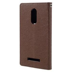 Wallet PU kožené pouzdra na Xiaomi Redmi Note 3 - hnědé - 2