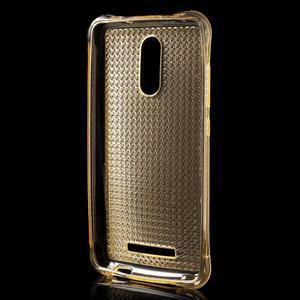 Diamonds gelový obal na Xiaomi Redmi Note 3 - zlatý - 2