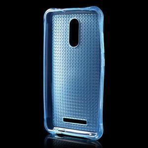 Diamonds gélový obal pre Xiaomi Redmi Note 3 - modrý - 2