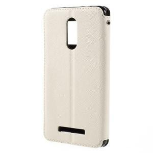 Diary pouzdro s okýnkem na mobil Xiaomi Redmi Note 3  - bílé - 2